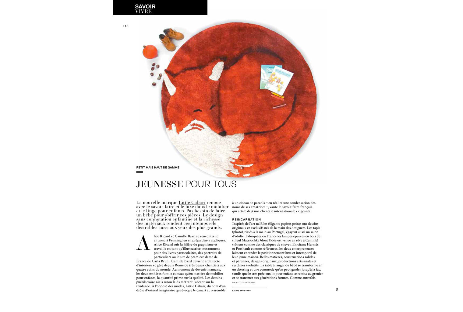 Article sur Little Cabari dans le magazine Jalouse