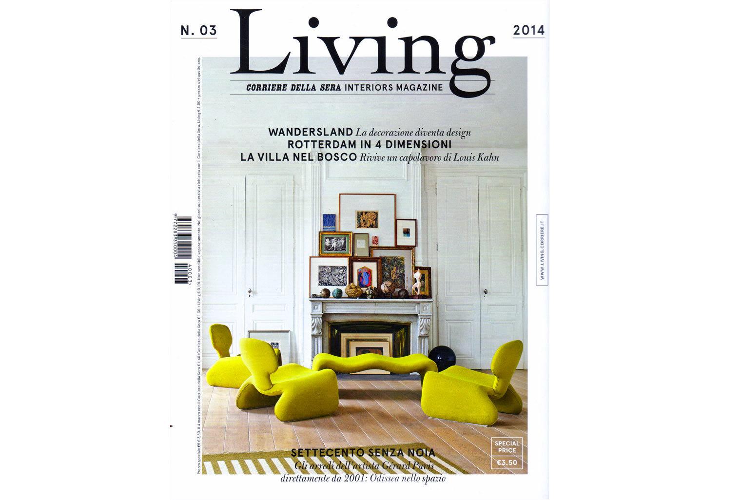 Le tapis Tilky est présenté dans le Living N°3