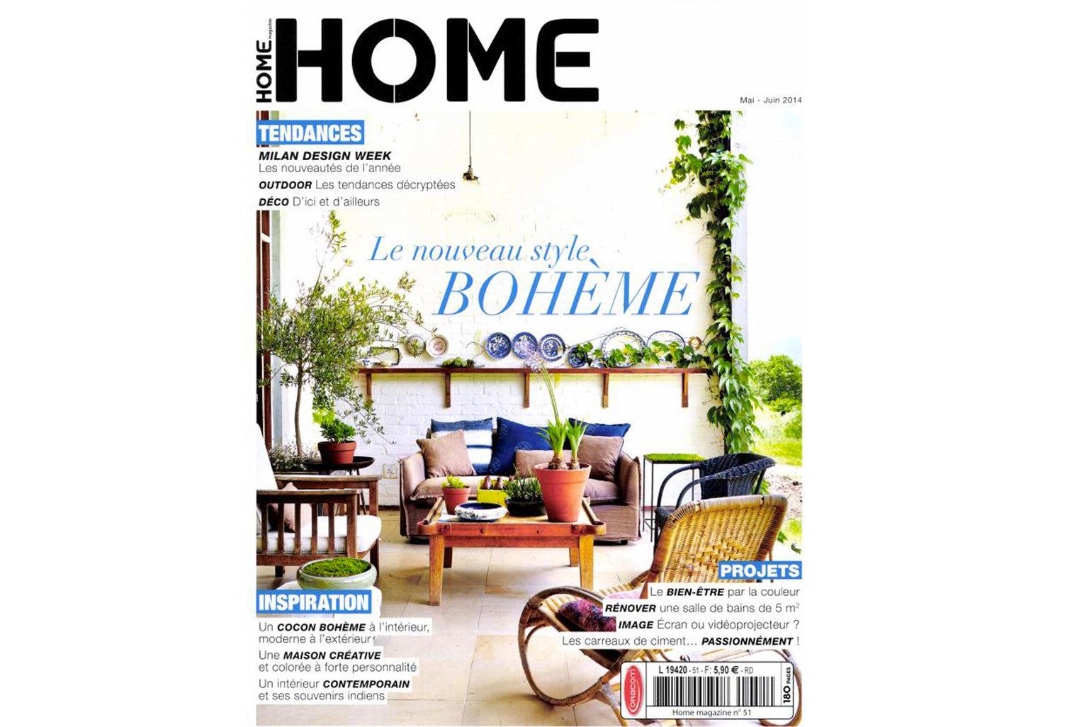 Le motif Jazz a été selectionné dans le magazine Home