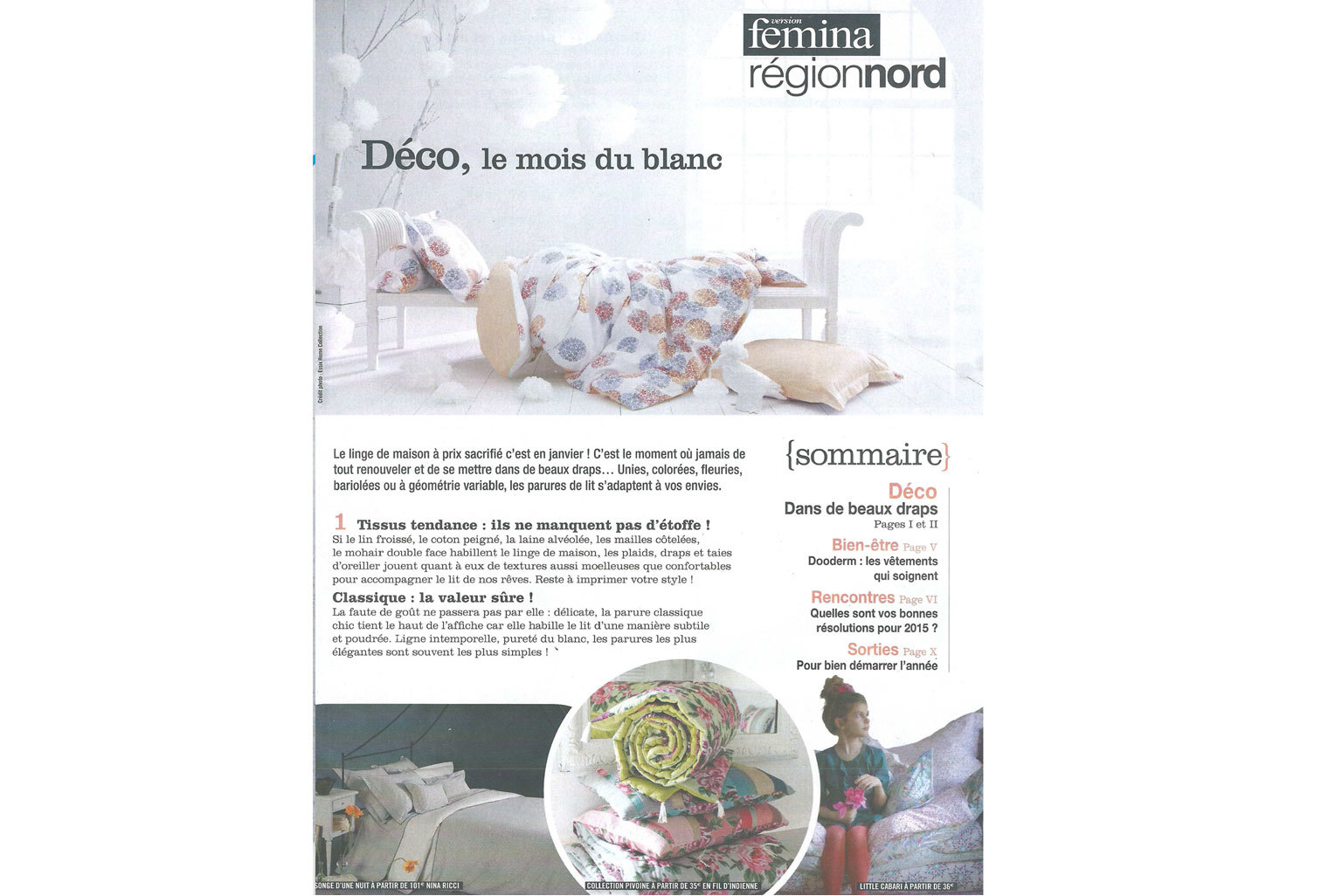 Linge de lit Little Cabari dans Version Femina