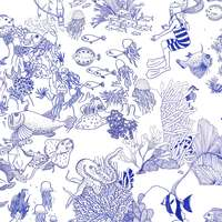 Tissu Toile de Mer blanc
