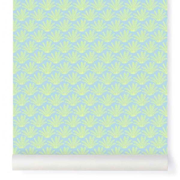 Papier-peint Maracas bleu