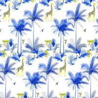 Tissu Tamtam bleu