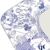 Drap-housse Toile de mer blanc 70x140cm