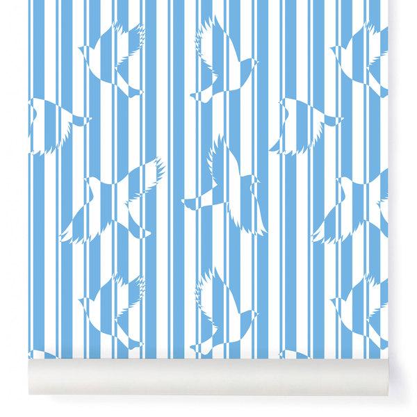 Papier-peint Polka océan