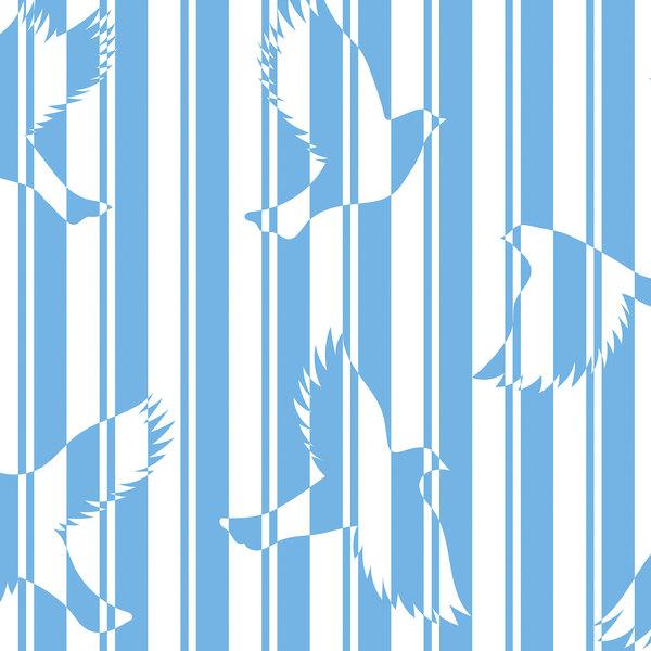 Papier-peint Polka océan détails