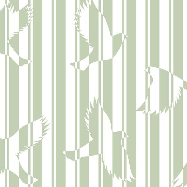 Papier-peint Polka vert amande détails