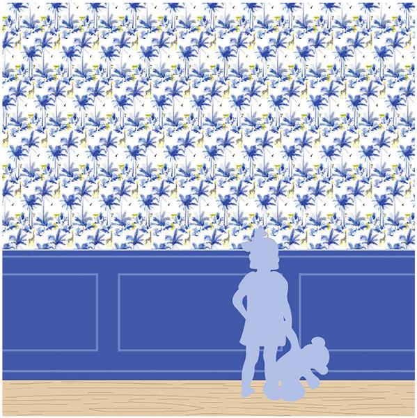 Papier-peint Tamtam bleu chambre