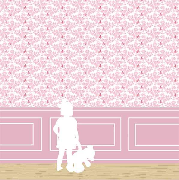Papier-peint Songe rose chambre