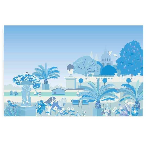 Décor Jardin Bleu