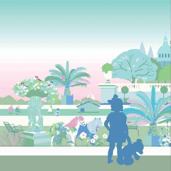 Décor Jardin du Luxembourg rose