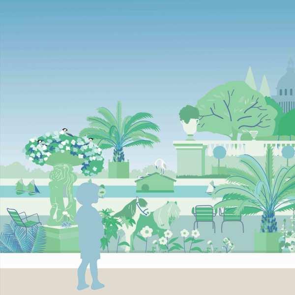 Décor Jardin Vert