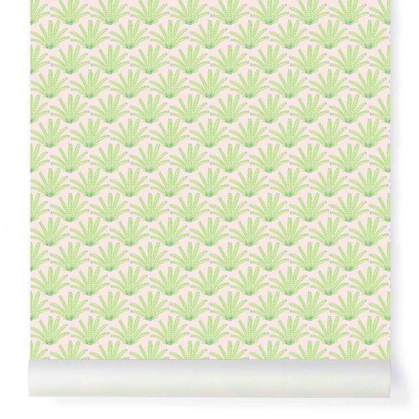 Papier-peint Maracas Mint et Pink