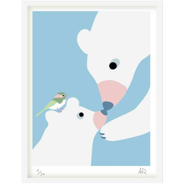 Art Print - Ours blancs