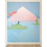 Mur deco papier peint sakura