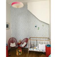 Papier peint polka chambre