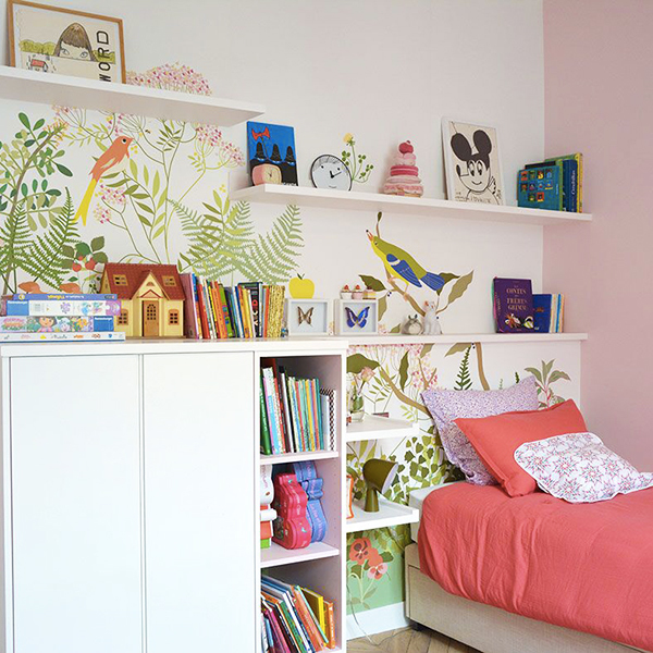 Papier-Peint Décor Botanique chambre enfant