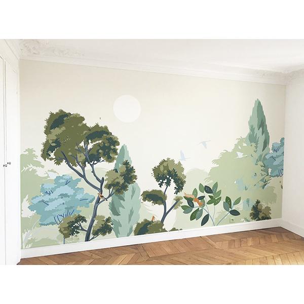 Fresque Clair-Obscur déco chambre