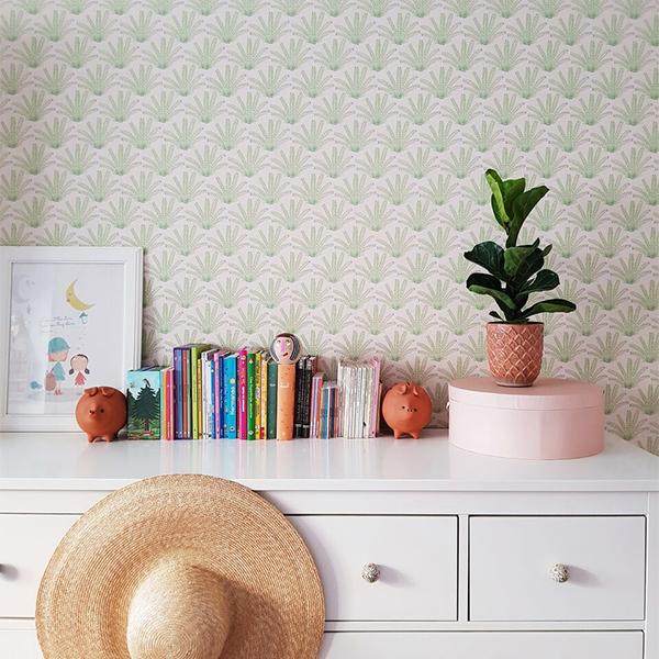 Papier-peint Maracas Mint ambiance