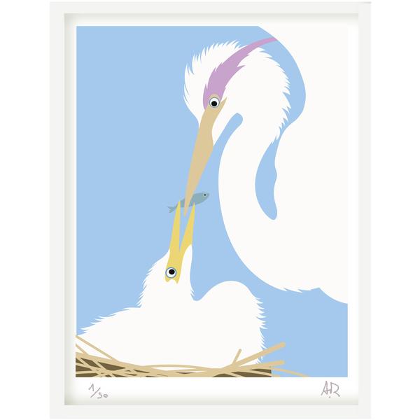 Art print Heron