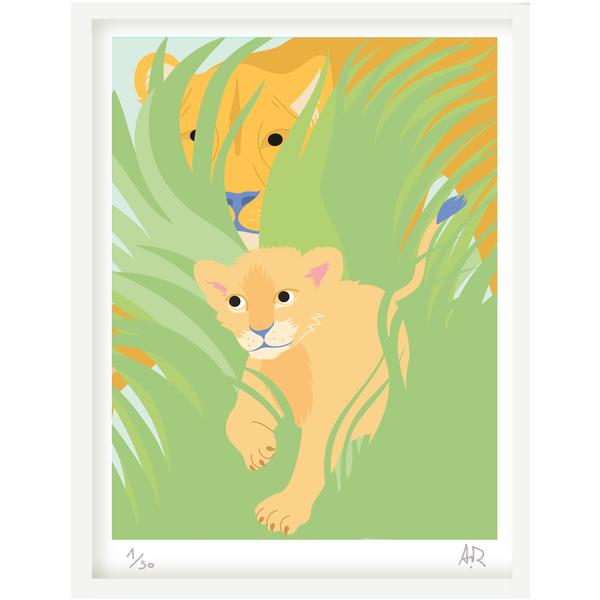 Art print Lion