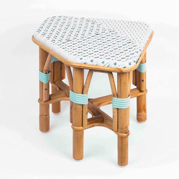 tabourets en rotin little cabari. Black Bedroom Furniture Sets. Home Design Ideas